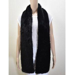 Faux Fur Black Scarf